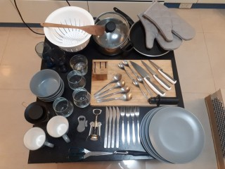Lot of cooking tools, kitchen accessories