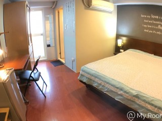Great STUDIO en-suite (904), 1 min from Zhongxiao-Fuxing MRT, 1 stop from NTUB & NTUT, direct connection to NTUT, CCU, NTU, NTUE, NTUST, TMC, TMU.